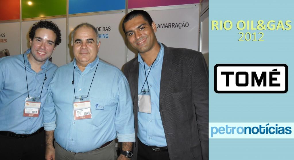 Jose Amorim e equipe no Estande da Fechometal - Rio Oil & Gas 2012
