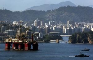 General Views Of Shipping Traffic & Oil Platforms In Guanabara Bay