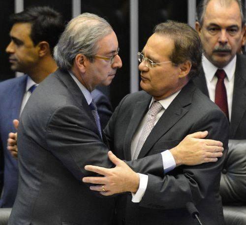 Eduardo Cunha e Renan Calheiros