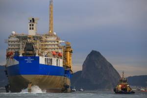Arrival of FPSO Cidade de Marica into Brasa shipyard in Brazil (Niteroi)