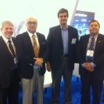 Mario Jorge, da Navium, com Sidney Bereicoa, Carlos Machado e Jose Carlos Ferreira, da ABS