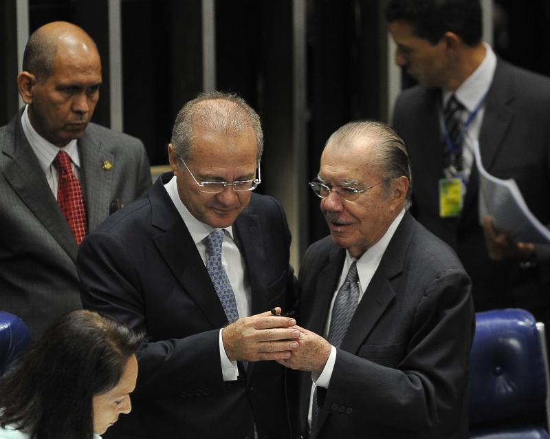 Renan Calheiros e Jose Sarney