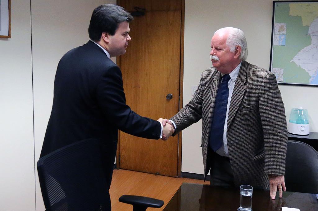 O presidente da ABDAN, Antonio Muller, com Ministro Fernando Coelho Filho - Foto: Francisco Stuckert/MME
