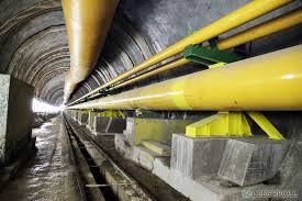Gasoduto no Túnel do Gastau