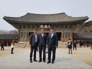 O diretor de Produção do Combustível Nuclear, Marcelo Xavier, o Superintendente Márcio Adriano e o presidente Reinaldo Gonzaga