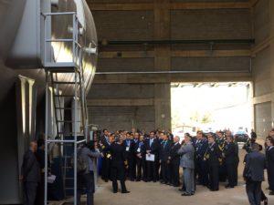 O presidente Michel Temer e comitiva durante visita ao LABGENE