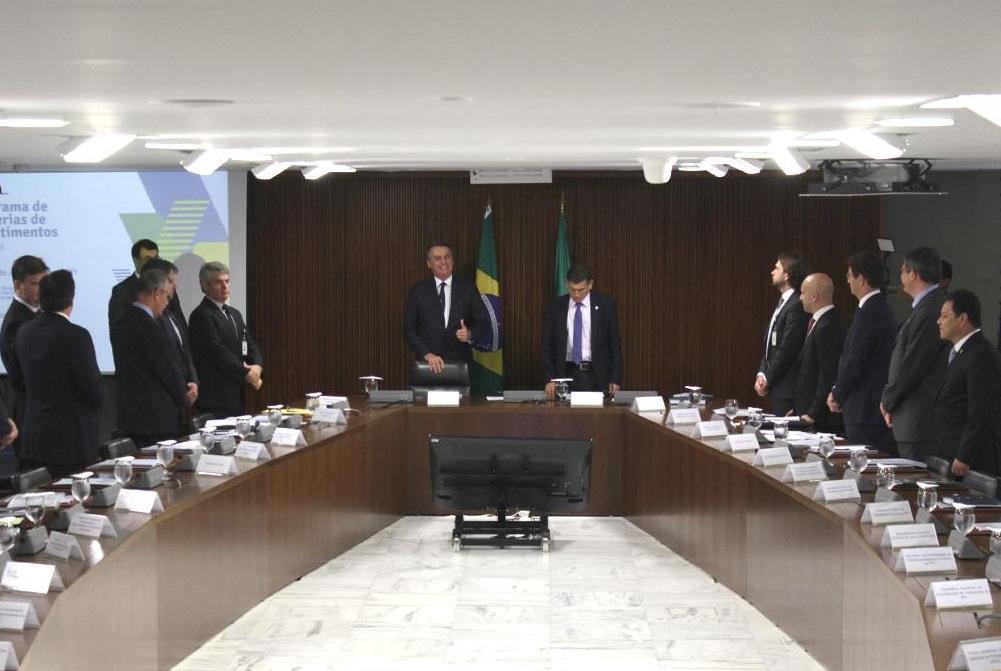 Presidente Jair Bolsonaro durante a reunião do Conselho do PPI