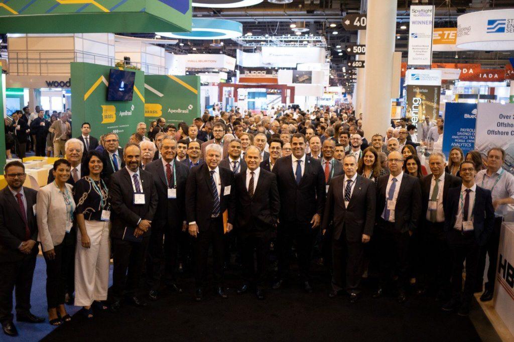 Delegação brasileira durante a OTC Houston 2019