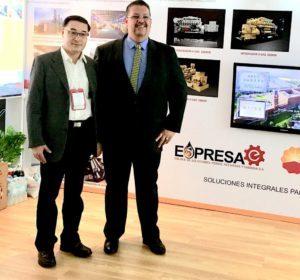 Sun Bao Fu, Presidente da Jihai, e Márcio Buzzani, da Thermo Solutions