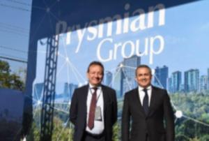 O CEO global da Prysmian, Valério Batista, e o CEO da América Latina, Juan Mogollon