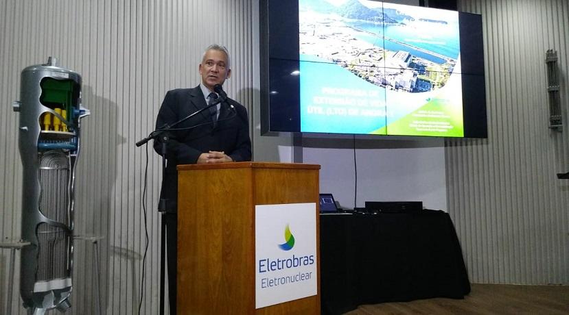 Antonio Soares Guerreiro, diretor-presidente da Amazul, durante o evento de assinatura do convênio com a Eletronuclear