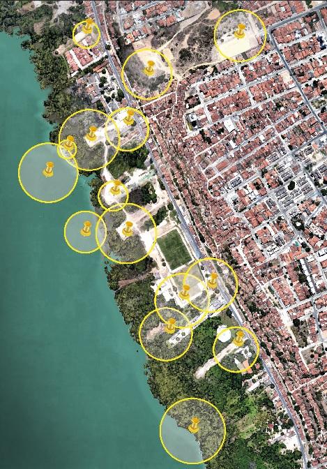 áreas de resguardo propostas pela Braskem