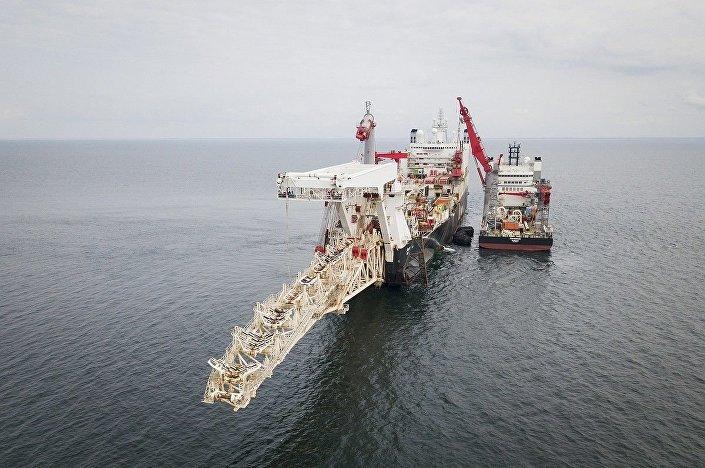Navio usado na instalação do gasoduto Nord Stream 2