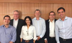 Nova diretoria da ABESPetro: Eduardo Chamusca, Jorge Mitidieri, Anna Carvalho, Lauro Puppim, Adyr Tourinho e Ricardo de Luca