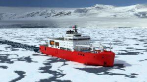 Navio Polar construído pelo Estaleiro ASMAR