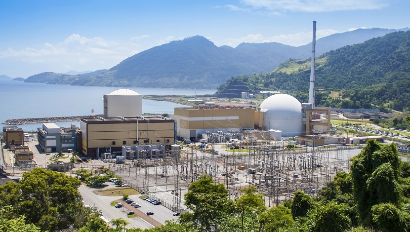 View of the nuclear power station in Brazil