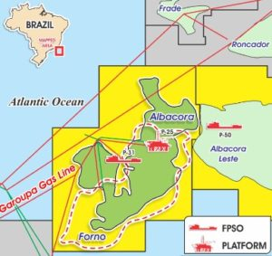 mapa albacora