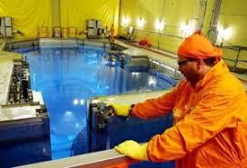 Piscina onde estão o combustível nuclear usado em Angra 2