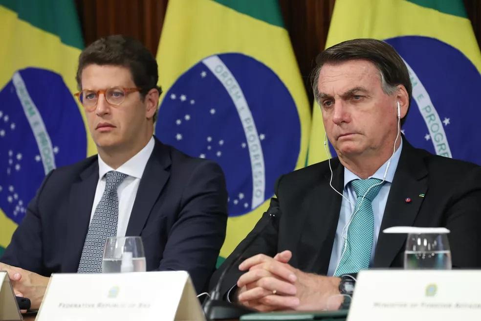 Bolsonaro e o ministro do Meio Ambiente, Ricardo Salles