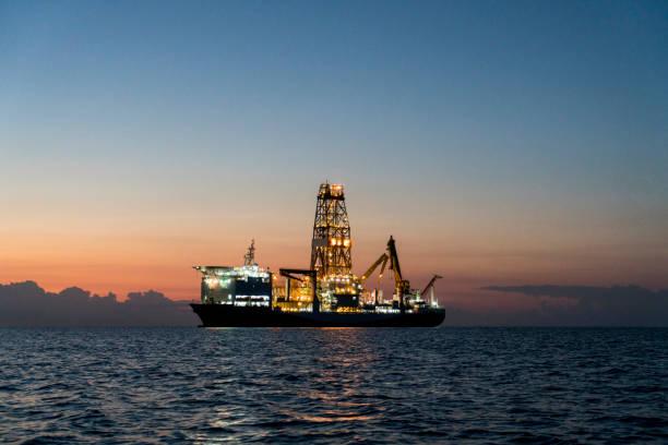 Oil tanker at Mediterranean Sea, Antalya, Turkey