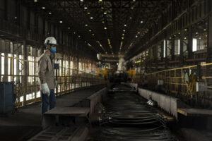 Laminação da Usina da ArcelorMittal na planta industrial de Resende-RJ. Credito ArcelorMittal NITRO