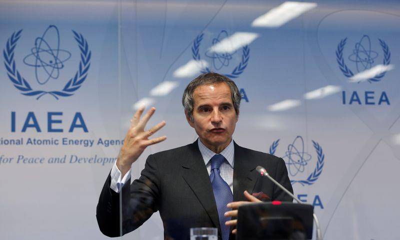 Diretor-geral da Agência Internacional de Energia Atômica, Rafael Grossi, durante entrevista coletiva em Viena 07/06/2021 REUTERS/Leonhard Foeger
