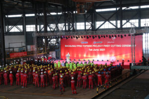 Bacalhau-FPSO-Topside-Project-First-Cutting-Ceremony-3