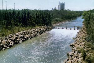 Canal de retomada da água do mar- Crédito Mosaico Imagem