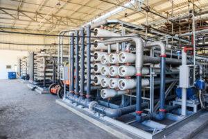 Unidade de dessalinização de água do mar -Osmose Reversa