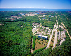Vista aérea - Tubarão -Divulgação Arcelor Mittal Tubarão