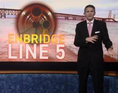 Projeto da Linha 5 sendo apresentado pela TV Local